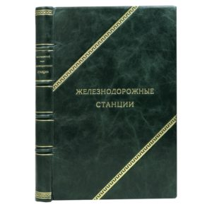 Сеньковский М.В. Железнодорожные станции, 1938 (кожа)