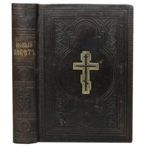 Новый завет Господа нашего Иисуса Христа. 1884 (кожа)