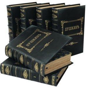 Пушкин А.С. Полное собрание сочинений в 6 томах, 1921 (кожаный переплет)