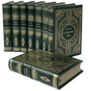 Пушкин А.С. Сочинения и письма, в 8 т, 1903 – 1906 (кожа)