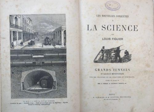 антикварная книга. Фигье Л. Большие железнодорожные туннели и метро, 1884 (на фран. языке)